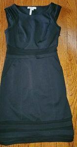 Black pencil dress with shear waist